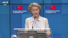 Progressi al summit Ue-Cina, ma l'intesa e' lontana
