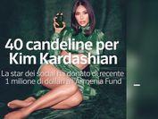 40 candeline per Kim Kardashian