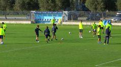 Lazio-Dortmund, i biancocelesti si allenano a Formello