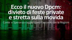 Covid, nuovo dpcm: divieto di feste private e stretta sulla movida