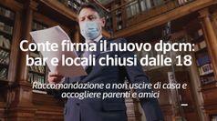 Conte firma il nuovo dpcm: bar e locali chiusi dalle 18