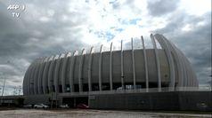 Zagabria, ospedale da campo nel palazzetto dello sport