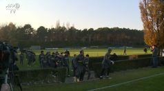 Champions, l'Inter si allena in vista della sfida con il Real Madrid