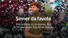Sinner da Favola, primo titolo in un torneo Atp