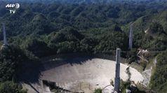 Portorico, crolla il telescopio protagonista di James Bond