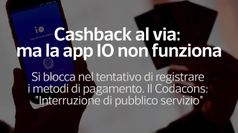 Cashback al via, ma la app IO non funziona
