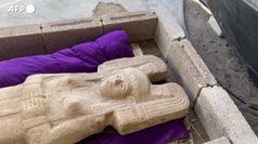 Messico, ritrovate statue femminili preispaniche alte due metri
