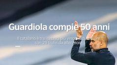 Guardiola compie 50 anni