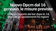 Nuovo dpcm dal 16 gennaio: le misure previste