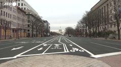 Usa, strade vuote a Washington per misure Covid e anti-rivolta