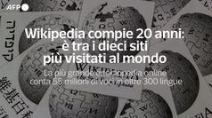 Wikipedia compie 20 anni: e' tra i dieci siti piu' visitati al mondo