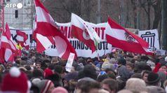 Covid: migliaia in piazza a Vienna contro le misure restrittive