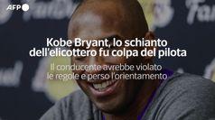Kobe Bryant, lo schianto dell'elicottero fu colpa del pilota