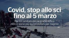 Covid, stop allo sci fino al 5 marzo