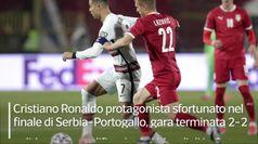Portogallo, Ronaldo furioso: gol fantasma non assegnato, getta la fascia e se ne va