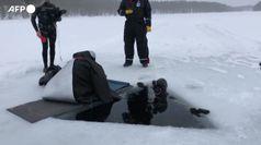 La finlandese Nordblad batte il record di tutti i tempi per le immersioni sotto il ghiaccio