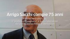 Arrigo Sacchi compie 75 anni, e' stato l'allenatore del primo storico Milan di Berlusconi