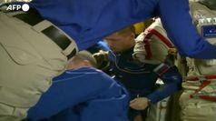 Partito il volo Soyuz dalla Iss: Rubins, Ryzhikov e Kud-Sverchkov tornano a casa