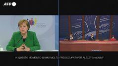 Navalny, Merkel: